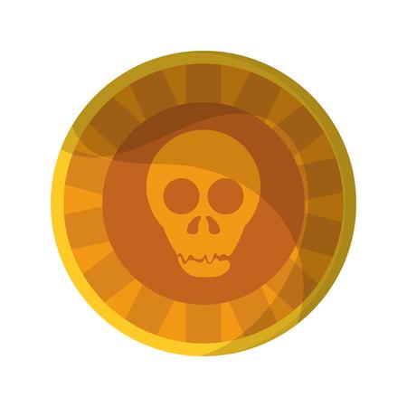 Mexican skull coin symbol vector illustration graphic design Imagens - 122895308