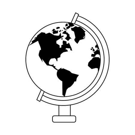 World earth globe symbol vector illustration graphic design Illustration