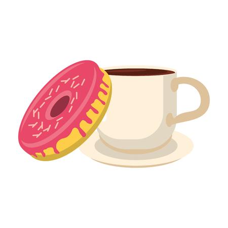 American breakfast food ingredients vector illustration graphic design Ilustrace