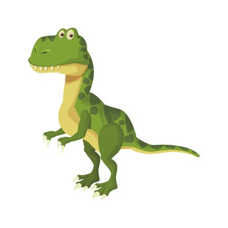 tyrannosaur dinosaur cartoon isolated vector illustration graphic design