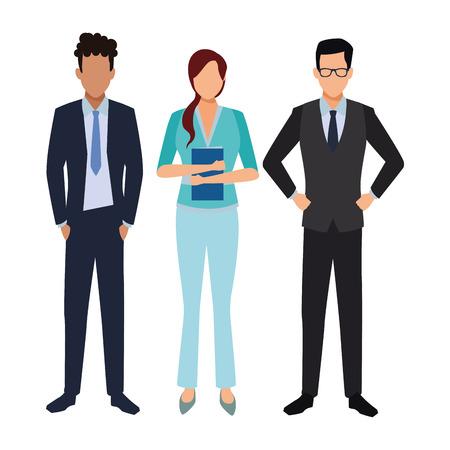 Executive Business Mitarbeiter Cartoon-Vektor-Illustration-Grafik-Design