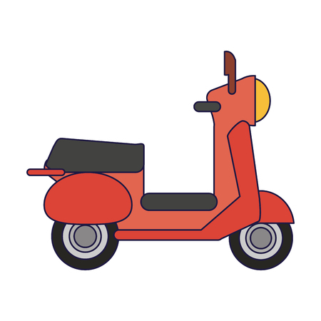 Scooter motorcycle vehicle symbol vector illustration graphic design vector illustration graphic design