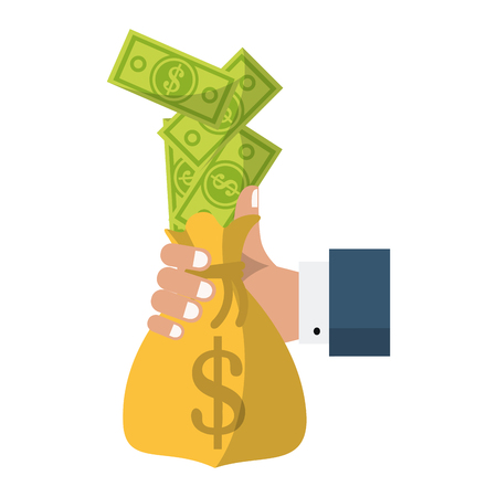 Business investment and money savings vector illustration graphic design