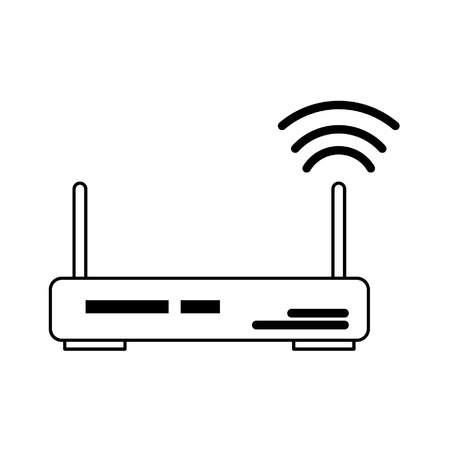 router icon cartoon isolated vector illustration graphic design Ilustrace