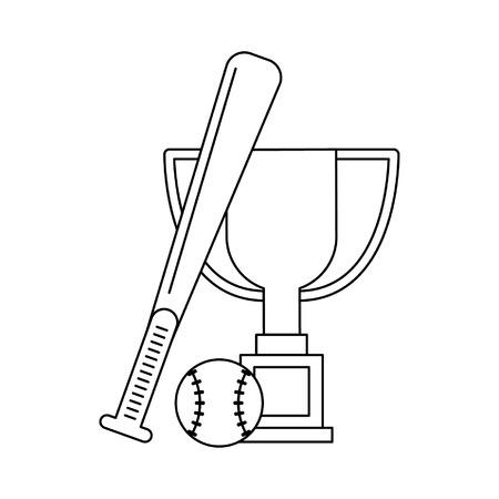 Sport championship cartoons baseball vector illustration graphic design Vettoriali