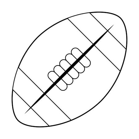 American football ball cartoon isolated vector illustration graphic design