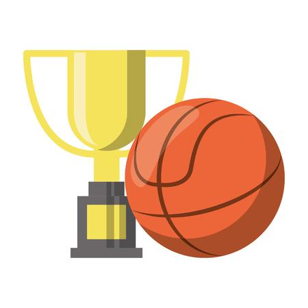 Diseño gráfico del ejemplo del vector de los dibujos animados del baloncesto del campeonato del deporte