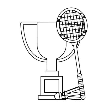 Sport championship badminton cartoons vector illustration graphic design