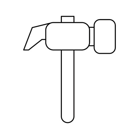 wrench tools icon cartoon vector illustration graphic design black and white