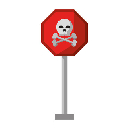 danger sign icon cartoon vector illustration graphic design