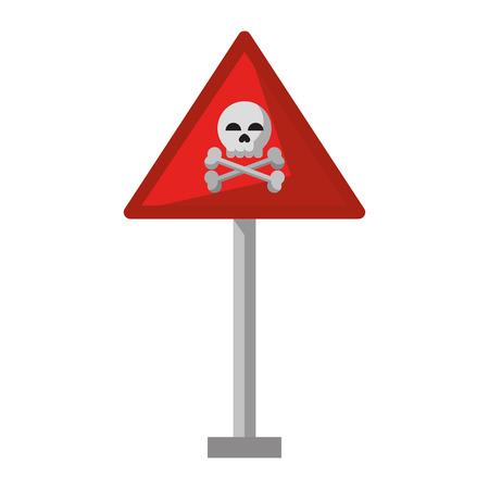 danger sign icon cartoon vector illustration graphic design Vetores