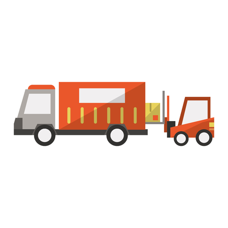 Delivery and logistics symbols and elements vector illustration graphic design