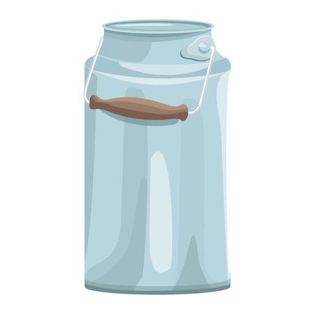 milk can icon cartoon vector illustration graphic design Ilustrace