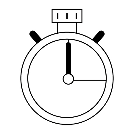 Chronometer timer symbol isolated vector illustration graphic design