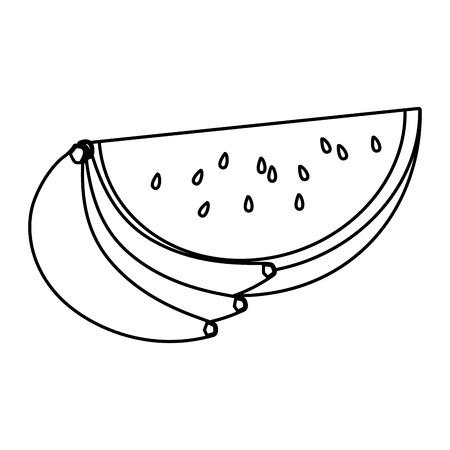 deliziosa frutta fresca fumetto illustrazione vettoriale graphic design Vettoriali