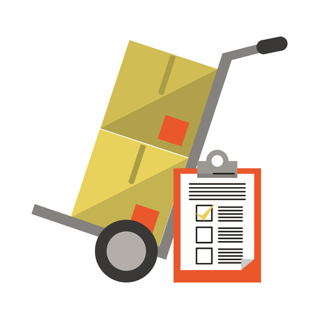 Delivery and logistics symbols and elements vector illustration graphic design Stock Illustratie