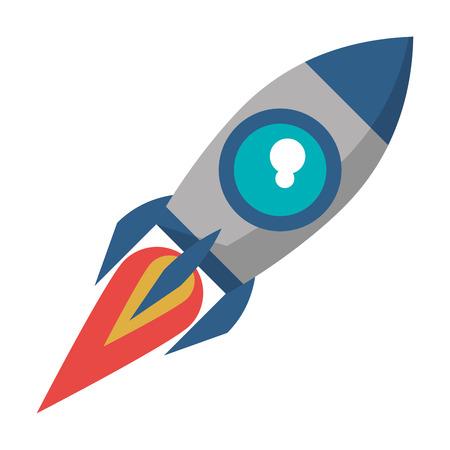 rocket icon cartoon isolated vector illustration graphic design Stock Illustratie