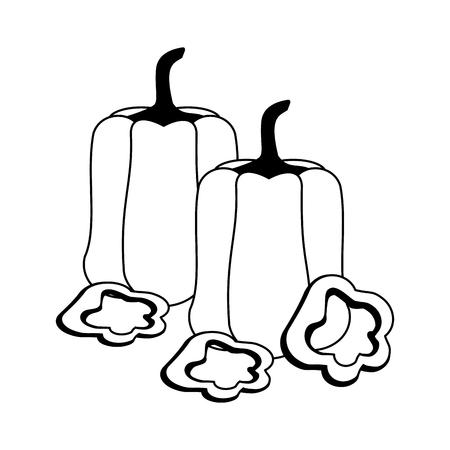 Fresh vegetables healthy food cartoon vector illustration graphic design Illusztráció