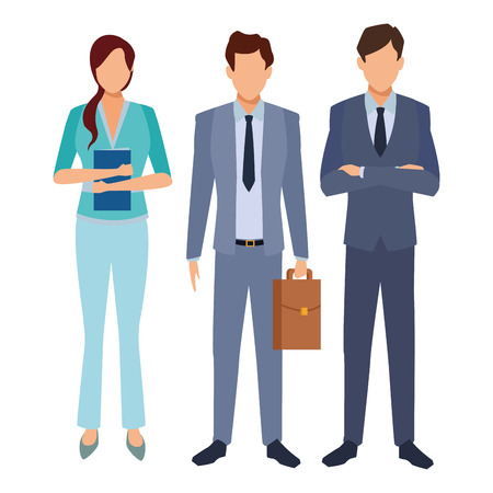 executive business coworkers cartoon vector illustration graphic design