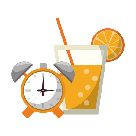 Detox fitness smoothie with alarm clock vector illustration graphic design Stock Vector - 122856679