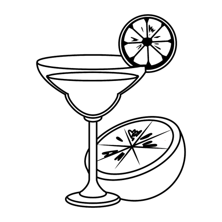 alcoholic drink beverage cocktail cartoon vector illustration graphic design  イラスト・ベクター素材