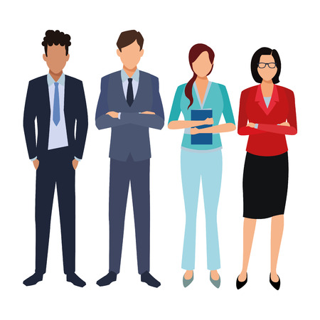 executive business coworkers cartoon vector illustration graphic design Imagens - 122857165