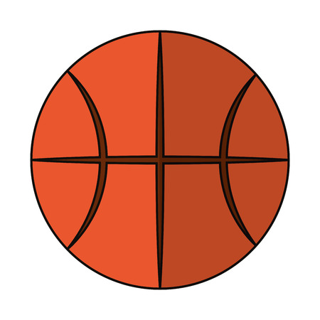basketball ball icon cartoon isolated vector illustration graphic design
