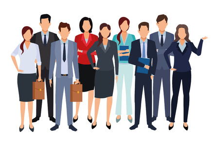 executive business coworkers people cartoon vector illustration graphic design