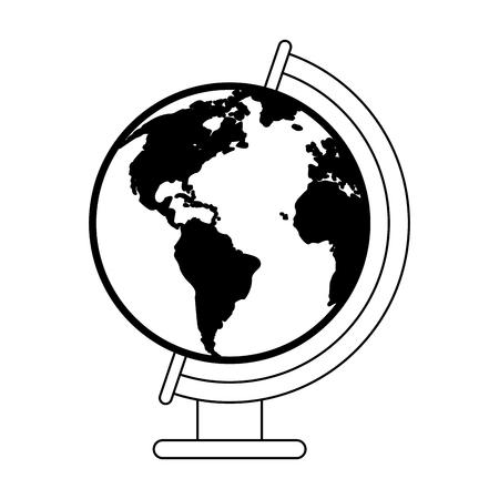 World earth globe symbol vector illustration graphic design Ilustração