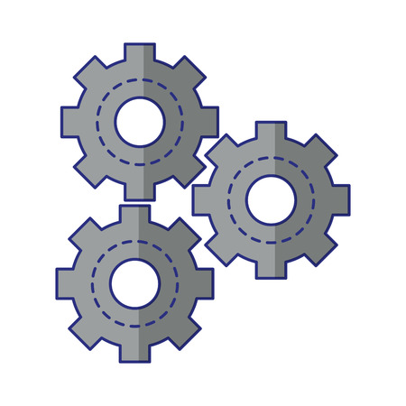 gears icon cartoon isolated vector illustration graphic design
