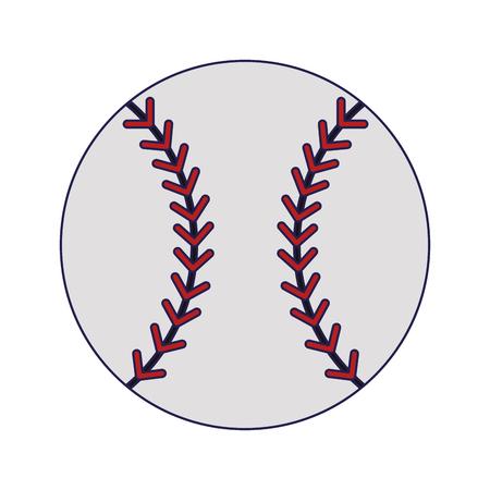 Baseball ball sport cartoon vector illustration graphic design