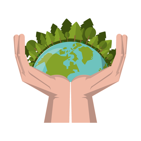 save world human hands symbol vector illustration graphic design Banque d'images - 122821893