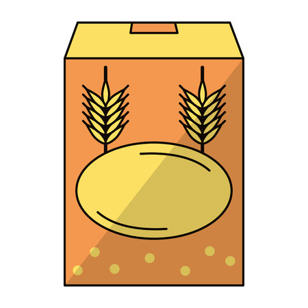 wheat flour icon cartoon vector illustration graphic design