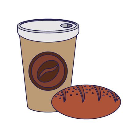 American breakfast food ingredients vector illustration graphic design Ilustracja