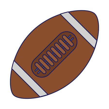 American football ball sport isolated vector illustration graphic design