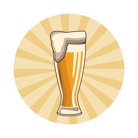alcoholic drink beverage beer cartoon vector illustration graphic design