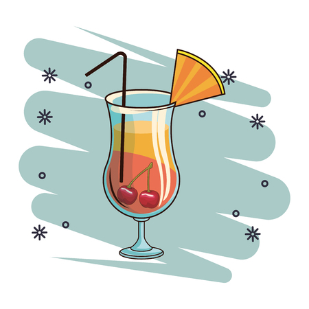 alcoholic drink beverage cocktail cartoon vector illustration graphic design Ilustração