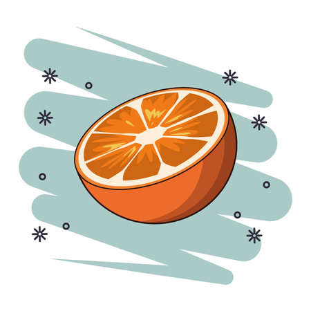 delcious fresh fruit cartoon vector illustration graphic design
