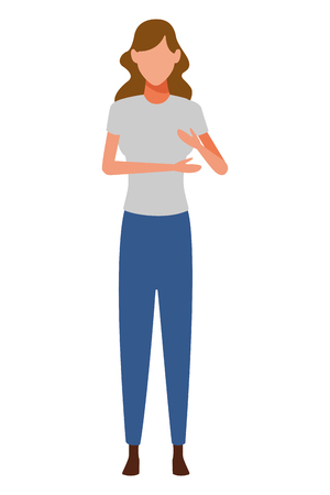 woman avatar cartoon character vector illustration graphic design vector illustration graphic design Foto de archivo - 122823860