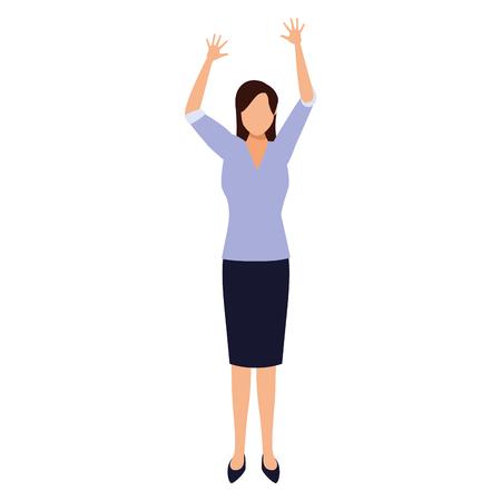 businesswoman avatar cartoon character vector illustration graphic design 向量圖像
