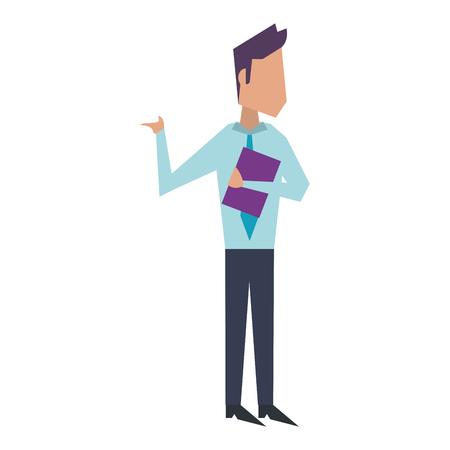 Executive businessman with clipboard avatar vector illustration graphic design Standard-Bild - 122823971