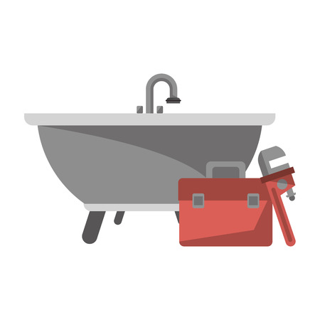 Bathroom and pumbling tools elements vector illustration graphic design