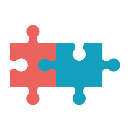 Puzzles jigsaw symobol isolated vector illustration graphic design