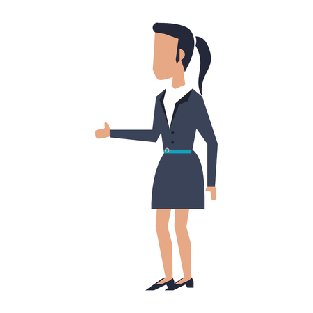 Executive businesswoman avatar cartoon vector illustration graphic design Çizim