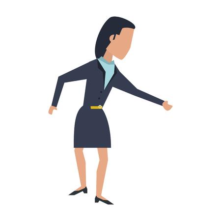 Executive businesswoman avatar isolated vector illustration graphic design