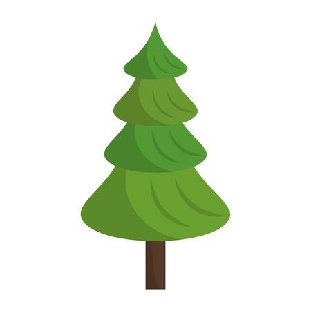 Tree nature cartoon isolated vector illustration graphic design