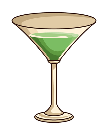 glass with drink icon cartoon vector illustration graphic design