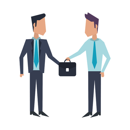 Business teamwork workers with briefcases avatar vector illustration graphic design Imagens - 122787517