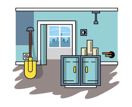 Home improvement and construction tools vector illustration graphic design Stock Illustratie