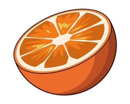 orange icon cartoon vector illustration graphic design